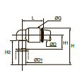 6331 Equal Plug-In Колено Дюйм.