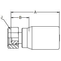 192BL – Внутренний вертлюжного соединения по стандарту BSP (конус 60°)