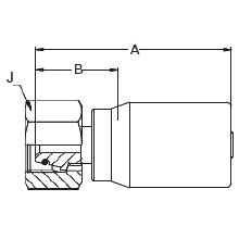 1C9BL – Метрический внутренний вертлюжного соединения тяжелой серии с кольцевым уплотнением