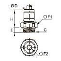 3601 Ввертный штуцер, наружная резьба BSPP и метрическая
