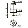 3681 Ввертный штуцер с внутренним шестигранником, наружная метрическая резьба