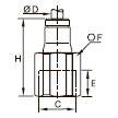 3614 Ввертный штуцер, внутренняя резьба BSPP и метрическая