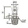3621 Штуцер с отводом, наружная резьба BSPT