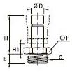 3631 Штуцер с отводом, наружная резьба BSPP и метрическая