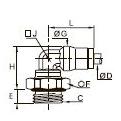 3699 Угольник уменьшенного размера, наружная резьба BSPP и метрическая