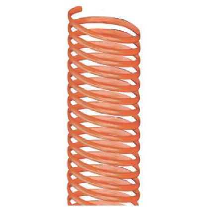 Защитная спираль ПВХ, цвет оранжевый