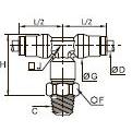 3608 Тройник ввертный симметричный, наружная резьба BSPT