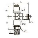 3603 Тройник ввертный с боковым отводом, наружная резьба BSPT