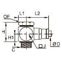 3618 «Банджо» с одним выходом, наружная резьба BSPP и метрическая