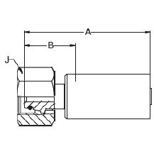 1C9LX – Метрический внутренний вертлюжного соединения тяжелой серии с кольцевым уплотнением