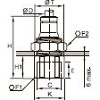 3636 Соединитель переборочный, внутренняя резьба BSPP