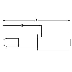 1YMLX – Трубный штуцер высокого давления с левой метрической резьбой