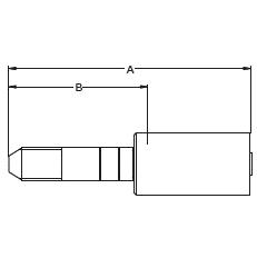 1YALX/1Y4LX – Трубный штуцер высокого давления с левой резьбой UNF (унифицированная тонкая резьба)