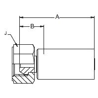192LX – Внутренний вертлюжного соединения по стандарту BSP (конус 60°)