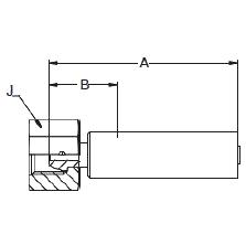 1C3LX – Метрический внутренний вертлюжного соединения легкой серии