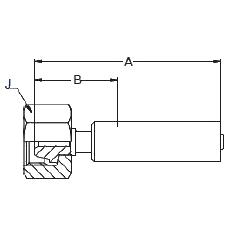 1C6LX – Метрический внутренний вертлюжного соединения тяжелой серии