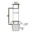 3821/3921 Прямой фитинг с ниппелем, наружная резьба BSPT