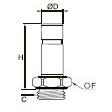 3831/3931 Прямой фитинг с ниппелем, наружная резьба BSPP и метрическая